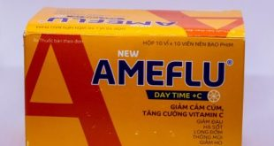 Ameflu ban ngày có tác dụng làm giảm các triệu chứng trong cảm lạnh,cảm cúm